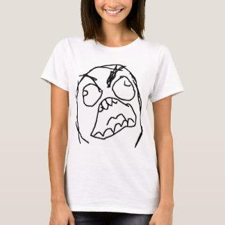 Raserei-Typ verärgertes Fuu Fuuu Raserei-Gesicht T-Shirt