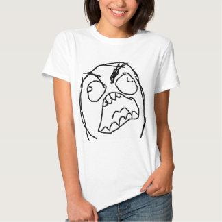 Raserei-Typ verärgertes Fuu Fuuu Raserei-Gesicht T Shirts
