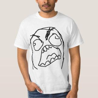 Raserei-Typ verärgertes Fuu Fuuu Raserei-Gesicht Tshirt