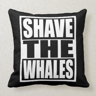 Rasieren Sie die Wale Kissen