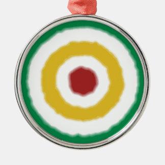 Rasta Bullauge Silbernes Ornament
