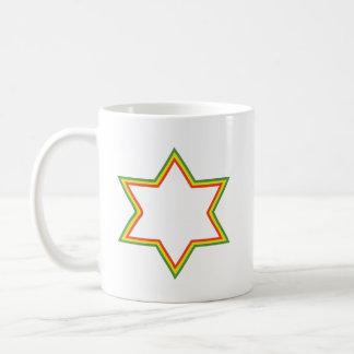 Rasta Davidsstern Kaffeetasse