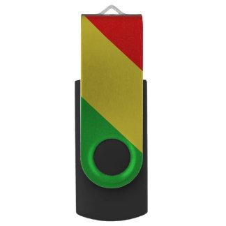 Rasta Farbe-USB-Schwenker-Blitz-Antrieb USB Stick
