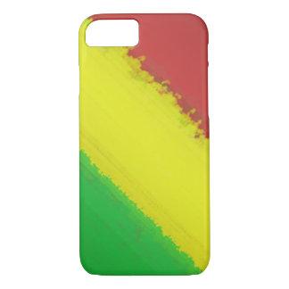 Rasta Farben-Schlag iPhone 7 Hülle