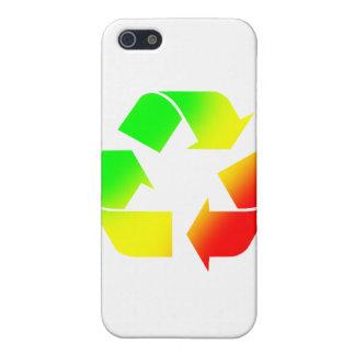 Rasta färbte recyceln Zeichen iPhone 5 Cover