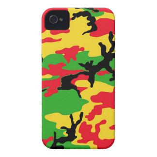 Rasta färbte Tarnung iPhone 4 Case-Mate Hülle