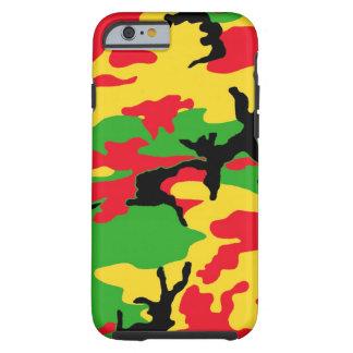 Rasta färbte Tarnung Tough iPhone 6 Hülle