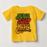 Rasta Frieden-Liebe-Musik Baby T-shirt