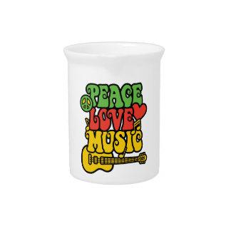 Rasta Frieden-Liebe-Musik Getränke Pitcher