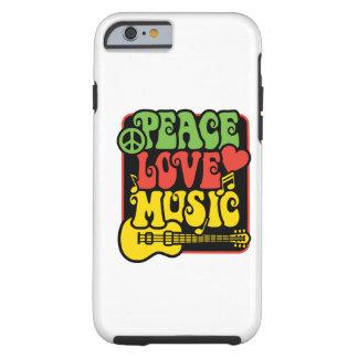 Rasta Frieden-Liebe-Musik Tough iPhone 6 Hülle