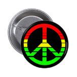 Rasta Friedensknopf Anstecknadel