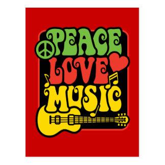 Rasta FriedensLiebe-Musik Postkarte