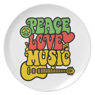 Rasta FriedensLiebe und -musik Teller