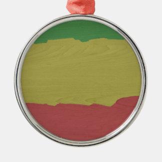 Rasta Holz-Korn Silbernes Ornament