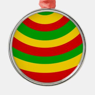 Rasta Kurven Silbernes Ornament