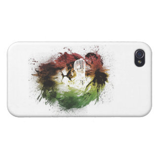 rasta Löwe iphone Fall iPhone 4 Schutzhülle