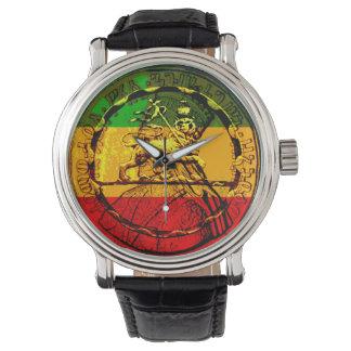 Rasta Löwe Judah Uhr sortierter Entwürfe
