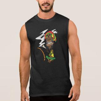 Rasta mit Joint und Jamaika - Mütze Ärmelloses Shirt