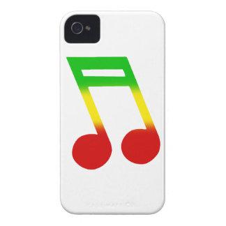 Rasta Musik-Anmerkung Case-Mate iPhone 4 Hülle