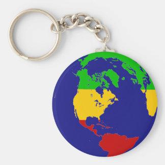 Rasta Planeten-Erde Schlüsselanhänger
