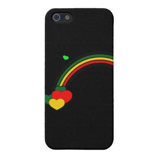 Rasta Regenbogen und Herzen iPhone 5 Hülle