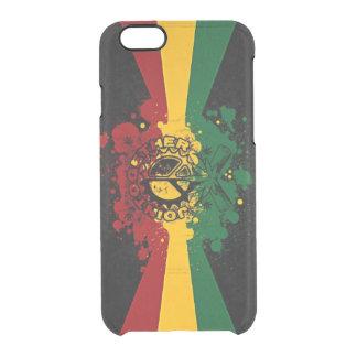 rasta Reggae-Graffiti-Musikkunst Durchsichtige iPhone 6/6S Hülle