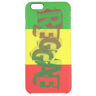 rasta Reggae-Graffitiflagge Durchsichtige iPhone 6 Plus Hülle