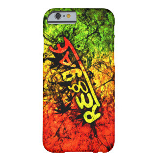 rasta Reggae-Graffitiflaggen-Kunstmusik Barely There iPhone 6 Hülle