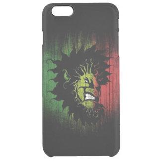 rasta Reggae-Löweflagge Durchsichtige iPhone 6 Plus Hülle