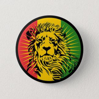 rasta Reggae-Löweflagge Runder Button 5,7 Cm