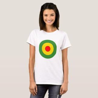 Rasta Reggae roundel Jamaika-Damenweißt-stück T-Shirt