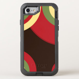 Rasta Retro Muster OtterBox Defender iPhone 8/7 Hülle