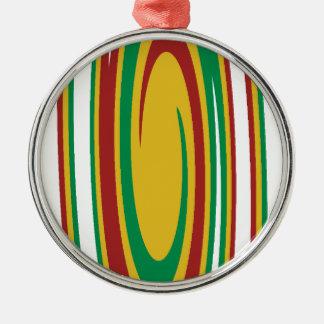 Rasta Rotation Silbernes Ornament