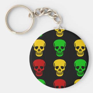 Rasta Schädel Schlüsselanhänger