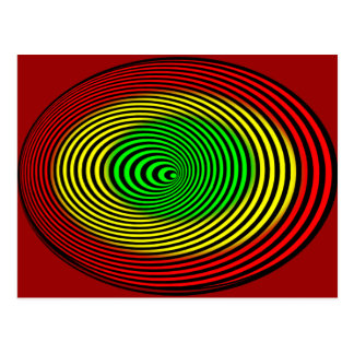 rasta-Spirale-hallo Postkarte