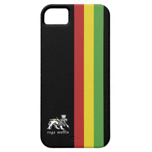 Rasta-Streifen auf Schwarz Etui Fürs iPhone 5
