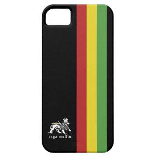 Rasta-Streifen auf Schwarz iPhone 5 Etuis