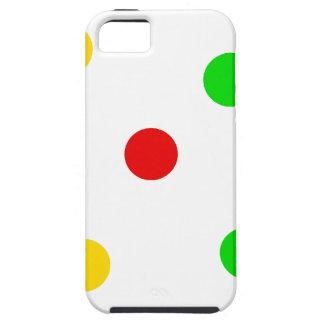 Rasta Tupfen auf Weiß Etui Fürs iPhone 5