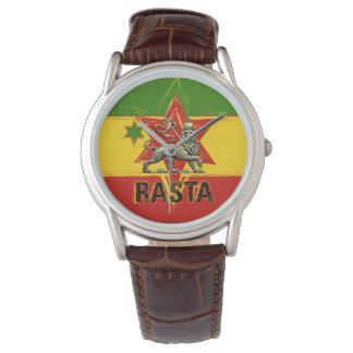 Rasta Uhr-Löwe Judah des roten Goldgrün-Entwurfs Uhr