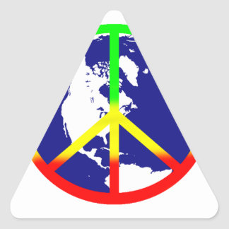 Rasta Weltfrieden Dreieckiger Aufkleber