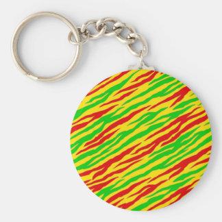 Rasta Zebra-Streifen Schlüsselanhänger