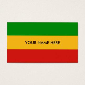 RASTAFARI FLAGGEN-FARBEN + Ihr Text Visitenkarten