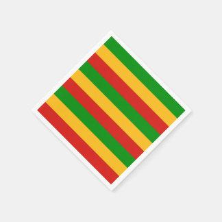 RASTAFARI FLAGGEN-FARBEN + Ihre Ideen Papierserviette