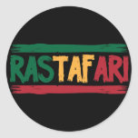 Rastafari Runder Aufkleber