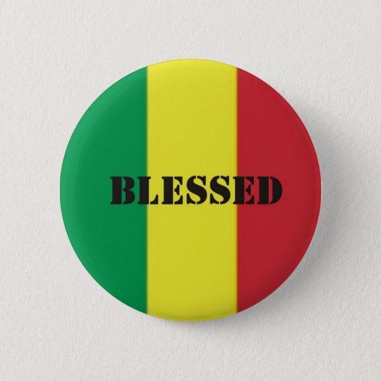 Rastafari-Segen Runder Button 5,1 Cm