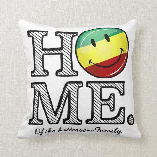 Rastafari Stolz-lächelnder FlaggeHousewarming Kissen