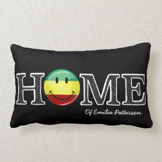 Rastafari Stolz-lächelnder FlaggeHousewarming Lendenkissen