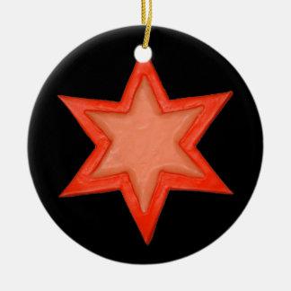Rastafarian Davidsstern Baumverzierung Keramik Ornament