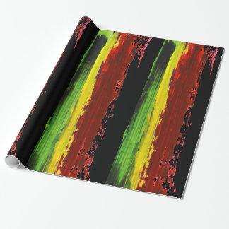 Rastafarian Farben-Streifen Geschenkpapier