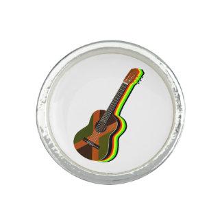 Rastafarian Reggae-Gitarren-jamaikanische Flagge Ring